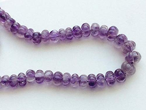 1 Strand Natural Amethyst Melon Beads, Amethyst Fancy Facet Melon, Amethyst Necklace, 10-14mm, 16 Inch by Gemswholesale ()