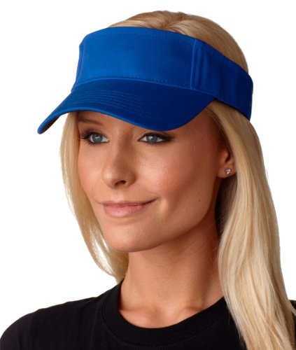 picture of AC101 Adams Ace Vat-Dyed Twill Visor - Royal - One