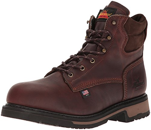 "Thorogood 804-4203 Men's American Heritage 6"" Classic Plain Toe, Safety Toe Boot, Black Walnut - 10.5 D(M) US"