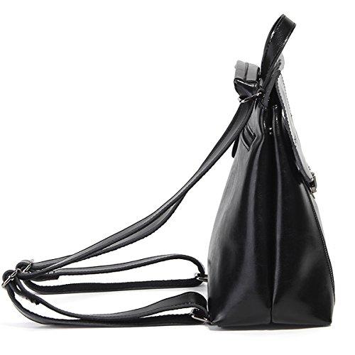 Valin Sac LF en main à portés femme fashion cuir 8965 Noir dos Sac zzwrg
