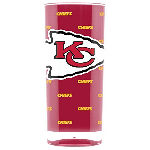 NFL Kansas City Chiefs 16oz Insulated Acrylic Square Tumbler ()
