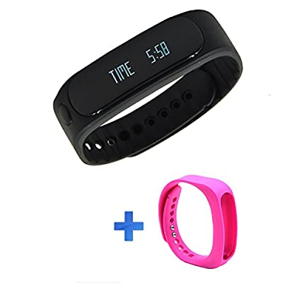 Forestfish? Bluetooth Sync Smart Bracelet Sports Fitness Tracker Smart Wristband Activity Tracker Sleep Monitoring Band