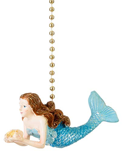 - Clementine Designs Ocean Mermaid Decorative Ceiling Fan Light Dimensional Pull