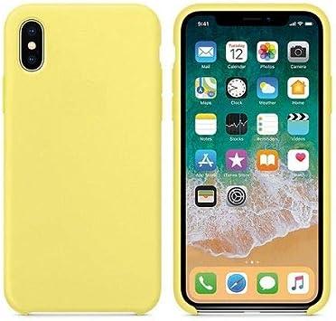 CABLEPELADO Funda Silicona iPhone XR sin Logo Color Amarillo Claro: Amazon.es: Electrónica