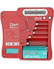Dlyfull Universal Battery Tester with LCD Display, Multi Purpose Small Battery Checker for AA AAA C D 9V CR2032 CR123A CR2 CRV3 2CR5 CRP2 1.5V/3V Button Cell Batteries