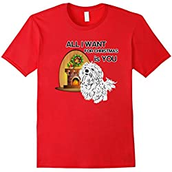 Maltese Dogs Lovers Tshirts All I Want For Christmas Puppy