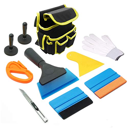 - CARTINTS Complete Window Tint Application Tool Car Vinyl Wrap Tool Kit Window Film Installation Tool Include Vinyl Tool Bag Pouch, Rubber Squeegee, Felt Squeegee, Vinyl Magnets, Scraper, Utility Knife