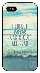 iPhone 5 / 5s Bible Verse - Perfect love casts out all fear 1 John 4:18. Sea - black plastic case / Verses, Inspirational and Motivational