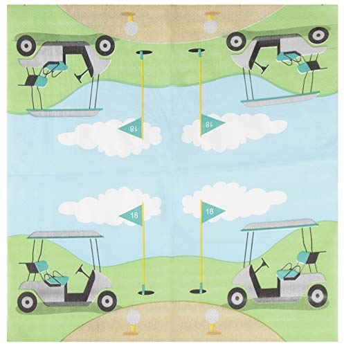 Cocktail Napkins - 150-Pack Luncheon Napkins, Disposable Paper Napkins Golf Party Supplies for Kids Birthdays or Retirement Parties, 2-Ply, Unfolded 13 x 13 Inches, Folded 6.5 x 6.5 Inches by Blue Panda (Image #1)