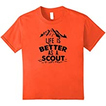 Life Is Better As A Scout t-shirt -- Boy and Girl