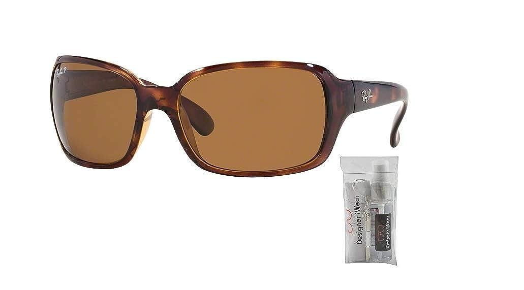 2d2156e2b9 Amazon.com  Ray-Ban RB4068 601 60M Black Green Crystal Sunglasses For  Women  Clothing