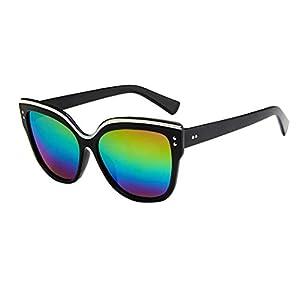 Mens Womens Glasses Cat Eye Retro Vintage Fashion Sunglasses Eyeglasses Eyewear (G, 5.7)