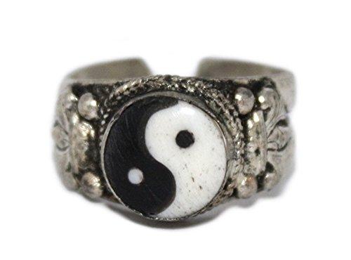 goldenlines Adjustable Ying Yang Ring, Yoga Ring, Meditation Ring, Nepal Ring, Boho Ring RB210