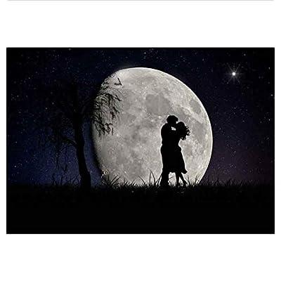 Wacydsd Puzzle 1000 Pezzi Coppia Di Luna Romantica Puzzle Classico Kit Fai Da Te Giocattolo In Legno Regalo Unico Decorazioni Per La Casa
