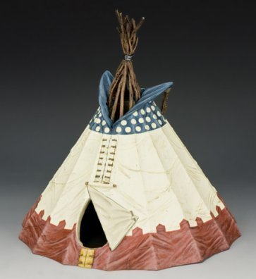 Indian Teepee American Native (Sioux Indian Teepee No.2 | The Real West | King & Country TRW083)