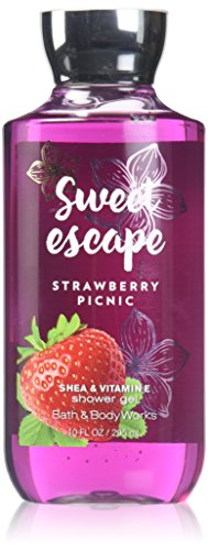 Bath and Body Works Sweet Escape Strawberry Picnic Shower Gel 10 Ounce Retired Scent