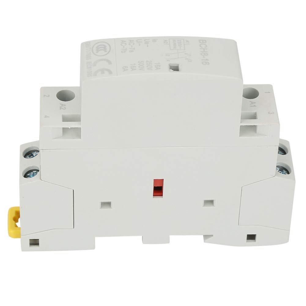 16A Din Rail AC Contactor 2 Pole, 220V/230V Coil Din Rail AC Contactor 2NO 50/60HZ