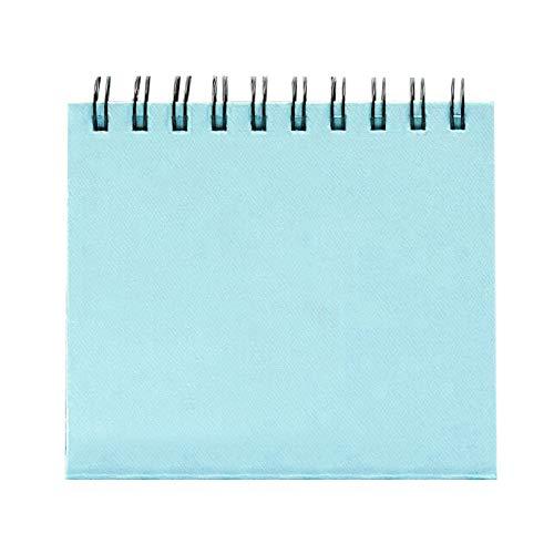 Gftablks 3 Inch Photo Album, 68 Pocket Desk Calendar Photo Albums, PVC Collection Book for Fuji Instax Mini - Sky Blue