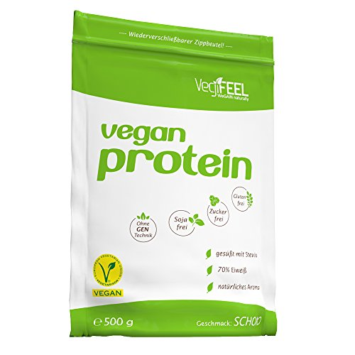 VegiFEEL Vegan Protein, Schoko, 500g Packung