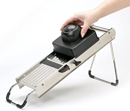 Amazon.com: Masterclass Stainless Steel Mandoline Slicer Set ...