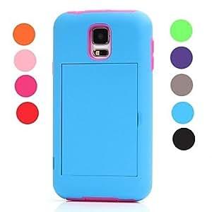 QJYB Samsung S5 I9600 compatible Special Design Plastic/Silicone Full Body Cases , Orange