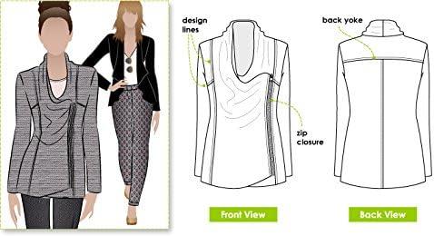 Sizes 04-16 Style Arc-Cartamodello per giacca Marie