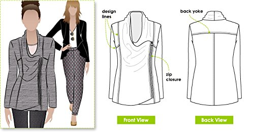 Style Arc Sewing Pattern - Marie Jacket (Sizes 04-16) - Click for Other Sizes Available Sewing Patterns Drapes