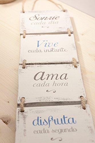 Cartel Vintage De Madera Sonríe Cada Día Transferencia De Fotos A Madera Laminas Sobre Madera Cuadro De Madera Frases Transferidas A Madera