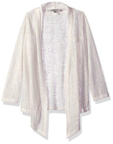 - Calvin Klein Big Girls' Lightweight Knit Drapey Cardigan, Cream, L12/14