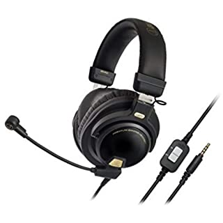 "Audio-Technica ATH-PG1 Closed-Back Premium Gaming Headset with 6"" Boom Microphone"