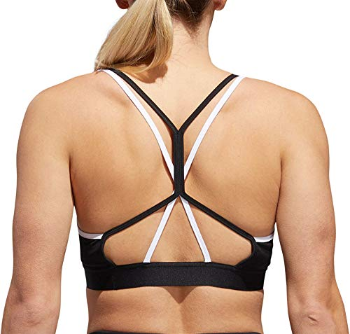 adidas Training All Me Strappy Bra, Black/White, X-Large