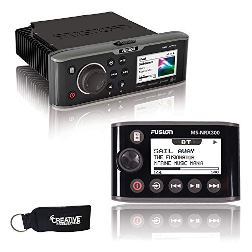 Fusion MS-UD755 Marine Entertainment System with Internal UNI-Dock + Fusion MS-NRX300 IPX7 NMEA 2000 Wired Remote
