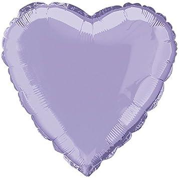 18 Foil Lavender Heart Helium Balloon by Unique Party