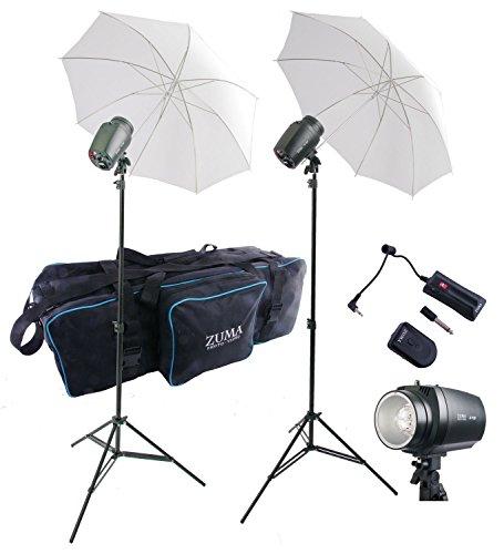 "2 150 W/S Monolight Kit, Inc. 2 X150 Lights 2 Stands, 2 36"""