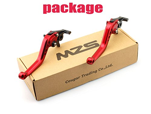 LUO CNC Short Brake Clutch Levers for Suzuki SV650/S 1999-2010,DL650 V-STROM 2004-2010,600/750 KATANA 1998-2006,RGV250 alle,GSX650F 1998-,GSF 600F 1989-1997,GSXR750R 1989-1991,GSXR750 1990-1991-Black by Luo Luo (Image #3)