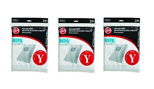 Hoover WindTunnel Y HEPA Pleated Vacuum Filter Bags 6 Pack AH10040 902419001