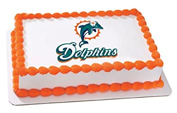 5c5fc97d NFL Miami Dolphins ~ Edible Cake Image Topper