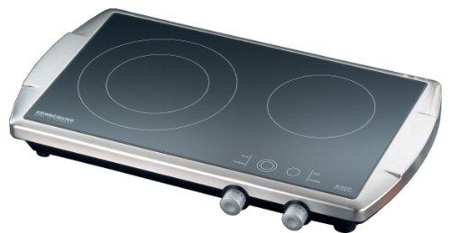 Rommelsbacher CT 3400/E Switch - Ceran® Doppelkochtafel - 3400 Watt - Edelstahl