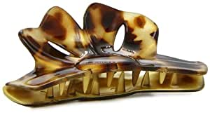 Caravan Maxi Flair Bow In A Hair Claw Painted By Hand In Gold Betty Fashion Color