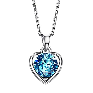 Buy Ananth Jewels Swarovski Elements Blue Crystal Heart Shaped Jewellery  Pendant Necklace for Women Online at Low Prices in India   Amazon Jewellery  Store ... b1ccaedad0