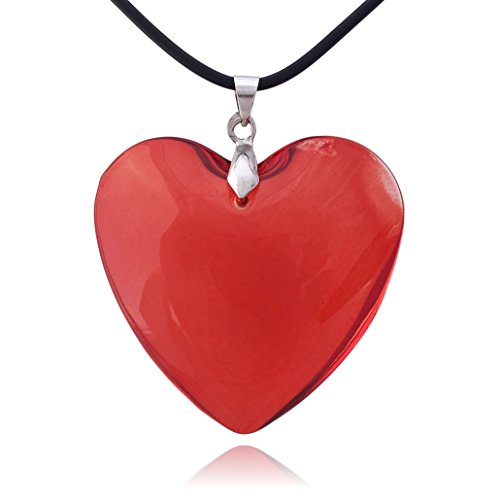 Necklace Red Glass Heart (COS (TM) Large Red Glass Heart Necklace)