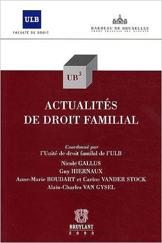 En ligne Actualités de droit familial pdf ebook
