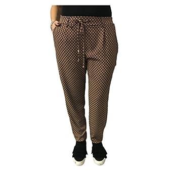 LA FEE MARABOUTEE Women's Trousers Fantasy Black/Leather mod