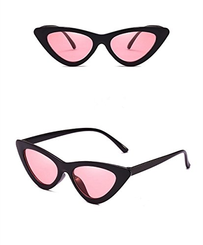 Cat Eye Sunglasses for Women - Clout Goggles Style - Vintage Black & Retro Pink