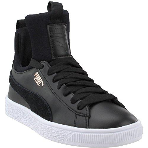 PUMA Womens Basket Fierce Black Black Sneaker - - Puma 10 Size Womens Shoes