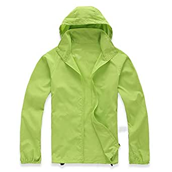 Lanbaosi Women's Lightweight Jacket Uv Protect+Quick Dry Windproof Skin Coat X-Small Apple Green