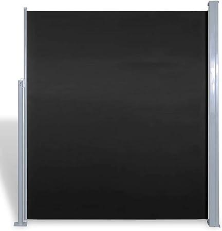 vidaXL Toldo Lateral Retráctil Poste de Acero Negro 160x300cm Mampara Terraza: Amazon.es: Hogar