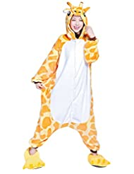 Molly Warm Anime Unisex Animal Sleepsuit Kigurumi Cosplay Costume Pajamas M Giraffe