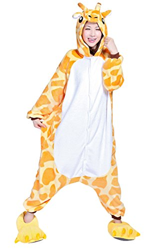 SaiDeng Warm Unisex-adult Kigurumi Onesie Clothing Adult Cosplay Style Pajamas S Giraffe (Sexy Pokemon Costumes)
