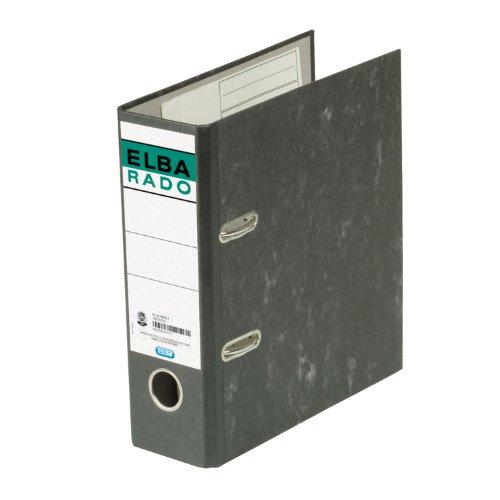Elba 100022636 Ordner rado (A5 hoch, Rückenbreite 7,5 cm, aufgeklebtem Rückenschild), schwarz